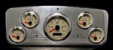 1935 1936 Chevy Car 5 Gauge GPS Dash Instrument Panel Cluster Kit  Tan