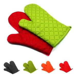 1pair Kitchen Microwave Oven Gloves Insulation Silicone Oven Mitts Non-Slip BBQ