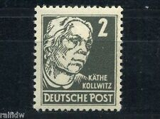 DDR 2 Pfg. Kollwitz 1952** Plattenfehler Michel 327 I geprüft (S2334