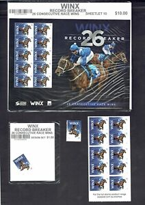 2018 Winx - $1 Stamps, Sheetlet of 10, and Self Adhesive Bklt of 10 MUH/MNH