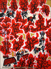 Chinese Folk Art Painting - Chinese Peasant Painting - Fall