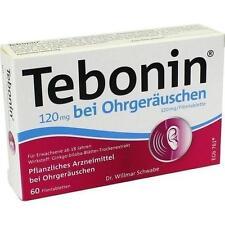 TEBONIN 120 mg bei Ohrgeräuschen Filmtabletten 60 St PZN 4369222