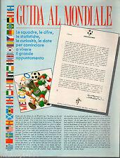 GUERIN SPORTIVO=GUIDA AL MONDIALE=ITALIA 1990=SQUADRE-CIFRE-STATISTICHE-DATE