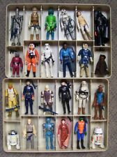 "Vintage STAR WARS figures 24 100% complete with ""GREAT/CLEAN"" collector case B"