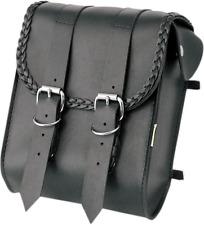 Willie & Max Braided Black Leather Motorcycle Sissy Bar Bag Harley Davidson
