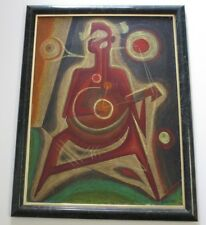 FINEST JOSE MARIA DE SERVIN PAINTING MEXICO ABSTRACT SURREAL CUBIST CUBISM MUSIC
