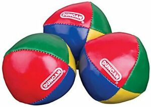 Duncan Juggling Balls - [Pack of 3] Multicolor, Vinyl Shells, Circus Balls with