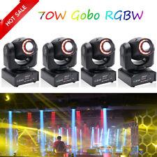 4PCS 70W RGBW LED Moving Head Stage Light DMX Gobo Show Bar DJ Disco Party Lamp