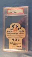 1964 World Series GM 3 Mickey Mantle HR 16 Ticket Pass PSA Tops Babe Ruth