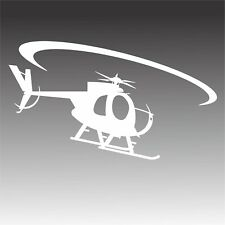 OH-6 In Flight Decal Hughes OH6 Pilot Helicopter Sticker B