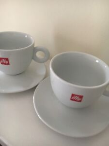 Illy Large Cappuccino Cups 12oz