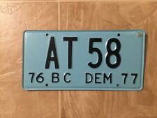 License Plate - Mexico Baja California BC 1976 1977 Dealer Demo Manufacturer NOS