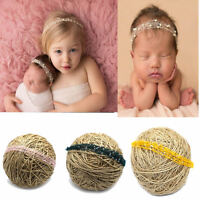 Newborn Baby Soft Mohair Pearl Headband Headwear Hair Band Photography Props