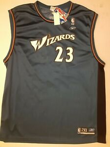 NWTS Reebok Michael Jordan #23 Washington Wizards Blue NBA Replica Jersey 2XL