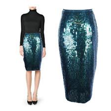 NWT H&M Mermaid Fish Scale Overlapping Sequin Designer Pencil Skirt LTD ED US 4