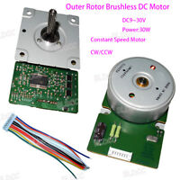 DC 9-30V Outer Rotor DC24V 30W Constant Speed Brushless Motor Built-in Driver FY