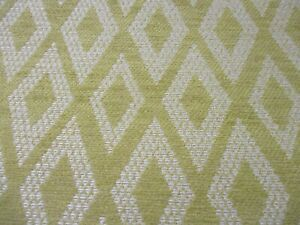 BARGAIN ROLL END 5.2 METRES WOVEN GEOMETRIC UPHOLSTERY FABRIC IN OCHRE.