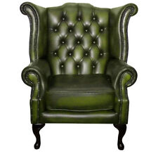 Divani e poltrone Chesterfield verde in pelle