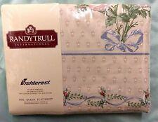 Fieldcrest Randy Trull Maidstone III Queen Flat Sheet 180 Thread Percale USA