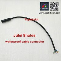 2x Ebike Julei 9pins Motor felmale Waterproof Extend Cable Connector ebike 33cm