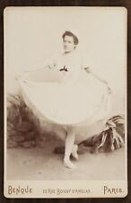 Mlle Tréluyer (?), Danseuse Ballet Opéra, Photo Cabinet card, Benque