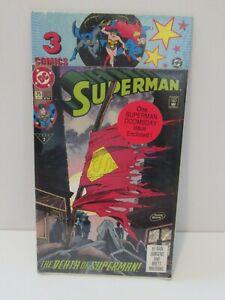 3NIP 1992 1993 DC Comics Superman Death #75, Doomsday, Wonder Woman Journey #66