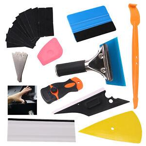 11 in 1 Wrap Vinyl Squeegee Felt Kit Car Window Tint Application Tools Film