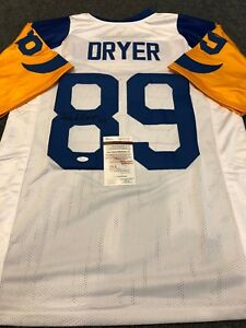 L.A. RAMS FRED DRYER AUTOGRAPHED SIGNED JERSEY JSA  COA