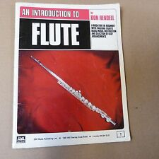 flute DON RENDELL an introduction to flute