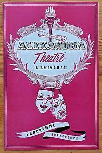The School For Wives programme Birmingham Alexandra Theatre 1956 William Avenell