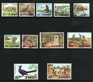 1975 Zambia  part definitive set with top 2 values used