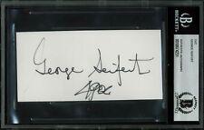 49ers George Seifert Authentic Signed 2.4x5 Cut Signature Autographed BAS Slab