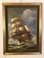 Vintage Painting, Oil On Canvas 42X32signed R.Landstone.10pix4details.MAKE OFFER