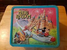 Aladdin Metal Lunch Box Walt Disney Magic Kingdom 1979 With Thermos -used