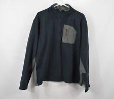 Cabelas Mens Large 1/2 Zip Pullover Long Sleeve Fleece Jacket Coat Blue