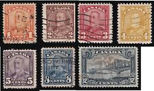 Canada Scott 149-154 & 156 Used Same series set    Lot P1000