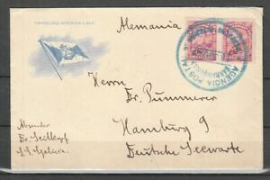 XXA 443) Kolumbien: Brief, Hamb.-Amerika-Linie nach Hamburg 1925 ! 2 Scans!