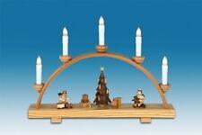 Schwibbogen mit Beleuchtung  Engel am Weihnachtsbaum / natur Breite ca 40cm NEU