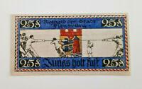 FLENSBURG NOTGELD 25 PFENNIG 1920 NOTGELDSCHEIN (11600)