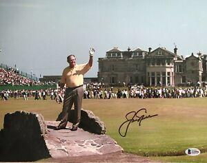 BRITISH!!! Jack Nicklaus GOLDEN BEAR Golf PGA Autographed Signed 11x14 Photo BAS