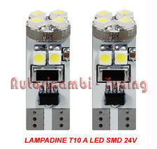 COPPIA LAMPADINE T10 24V W2,1X9,5D 5LED SMD 6500K CANBUS CAMION IVECO MAN SCANIA