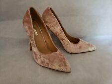 Liliana Soft Pink Crushed Velvet Stiletto Heels US Womens sz 11 EUC
