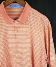F&G Tech - Fairway And Greene - Men'S Sz Xl Golf Orange/White Stripe Polo