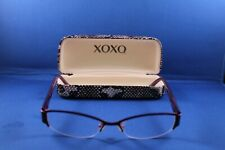 "XOXO ""ALLURE"" Eyeglasses Frame Half Rimless 53-16-135 Purple/Tortoise 1035"