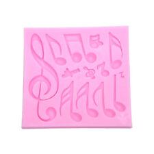 1set Music Notes Shape Silicone Mold For Fondant Cake Mold, Bakware Tools,Soap/v