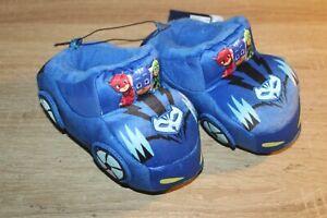 NEW Disney PJ Masks Plush Toddler Slippers Cat Car Blue House Shoes