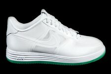 2013 Nike LUNAR FORCE 1 FUSE QS EASTER EGG GREEN SOLE Sz 8 WHITE 614491-100 air