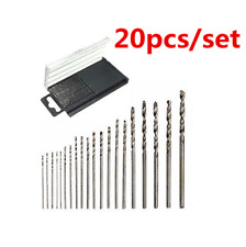 20pcs 0.3-1.6mm Mini Micro HSS Twist Drill Bit Set Drilling Craft Wood Tool New