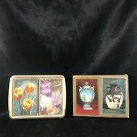 Vintage CONGRESS Playing Cards 4 Decks Wedgwood Tulips