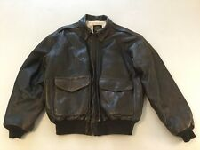 Vintage Avirex Brown Leather 1992 Bomber Coa Jacket Pinup Girl
